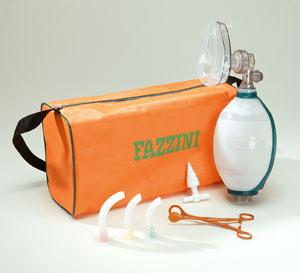 Trusa resuscitare Fazzini cu balon si masca silicon copii REAMAN
