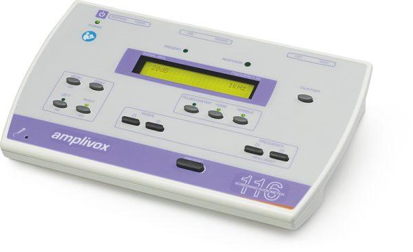 Audiometru de triaj Amplivox (screening) manual - 116 cu posibilitate alimentare cu baterii