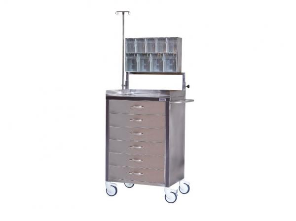 Troliu urgenta si instrumentar inox TM 1161
